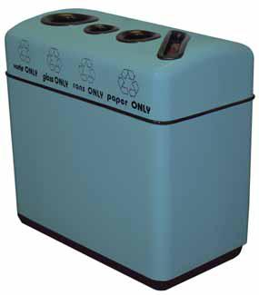 Witt Fiberglass 4-opening recycling container 11RR-481631