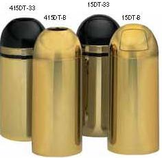 Witt Dome top, brass/black, with galv. liner 15DT-33