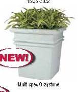 Witt Fiberglass planter 1SQS-3032SP