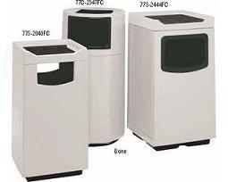 Witt Fiberglass food court receptacle, with plastic liner 77C-2347FCSP