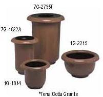 Witt Fiberglass receptacle, with plastic liner 7G-2735TSP