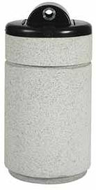 Witt Ash urn hide-a-butt round, with plastic liner RLC-1424HAB