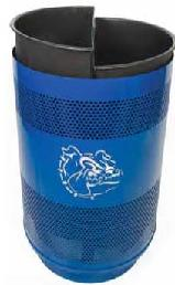 Witt Custom logo unit with flat top recycle lid, plastic liner SC55-02-FTR