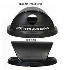 Witt Hood recycle top for SC 40, 55, plastic, black SC55HTR